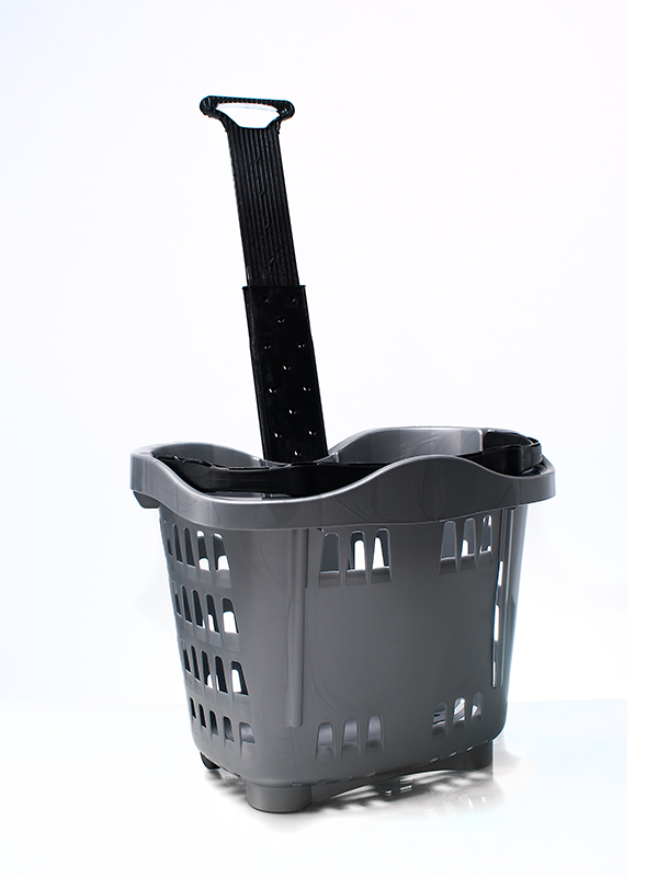 Einkaufskorb aus Kunststoff mit Rollen - Restposten - KLD Shop